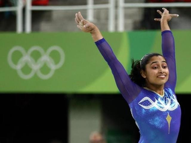Dipa missed the bronze medal by 0.150 points as American gymnast Simone Biles won her third gold medal at the Rio Games.