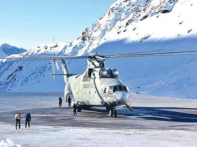 Indian Air Force (IAF) came to the rescue of a pregnant woman on Friday as she was airlifted from mountainous Nawapachi belt of Kishtwar to Udhampur.