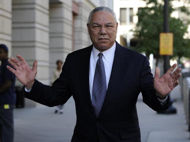 Former secretary of state Colin Powell is seen in Washington.
