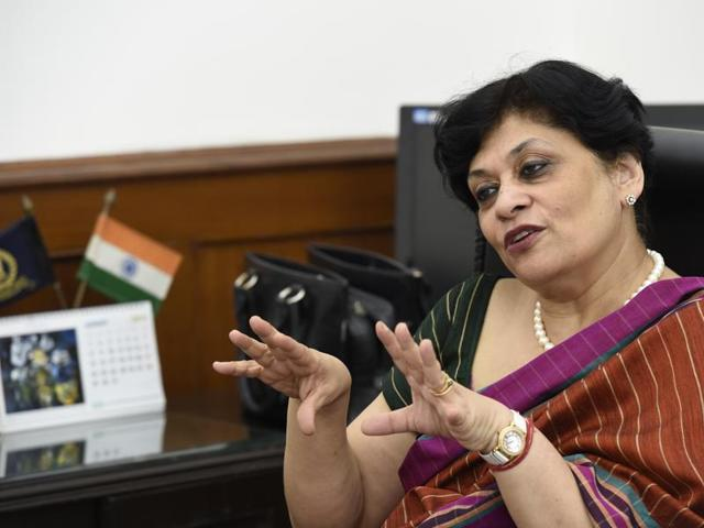 CBDT chairperson Rani Nair  in New Delhi on Wednesday.