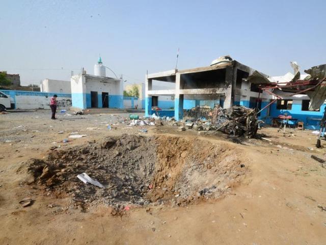 Many Yemenis blame the US for enabling Saudi atrocities, like the airstrike on this  hospital in Hajja province.