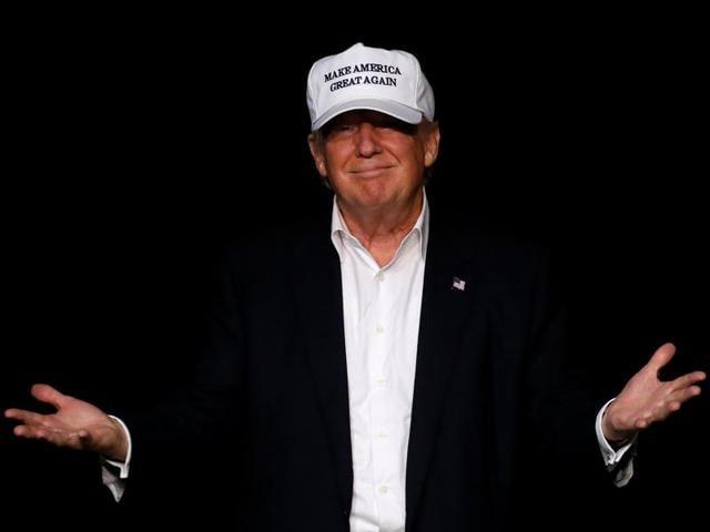 Republican presidential nominee Donald Trump  during a campaign event in Michigan.