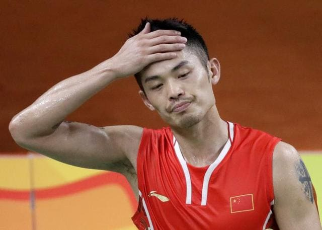 The two-time Olympic champion Lin Dan lost the bronze medal match to Denmark's Viktor Axelsen.