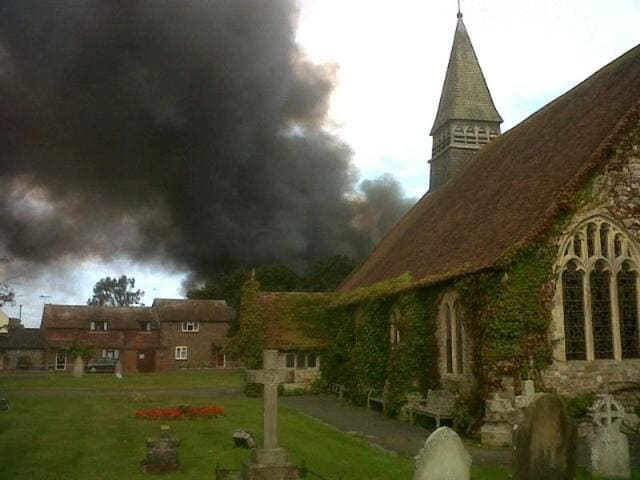 More than 75 firefighters tackled the blaze at Selsey Academy in School Lane in West Sussex.