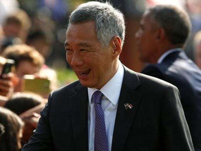 Singapore prime minister Lee Hsieng