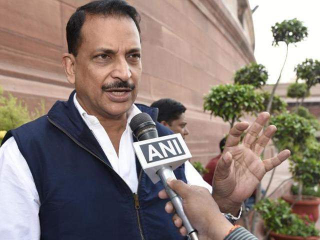 Rajiv Pratap Rudy's car was hit by another vehicle  of his convoy.