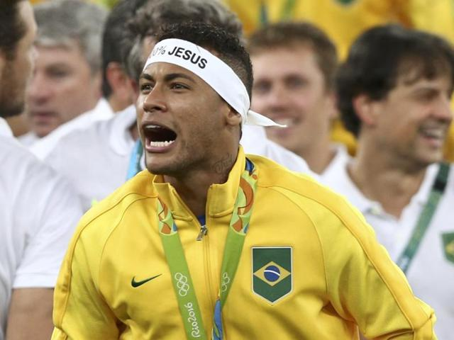 Neymar had an outstanding game, scoring a superb free-kick midway through the first half to give Brazil the lead. He returned later to net home the decisive penalty.