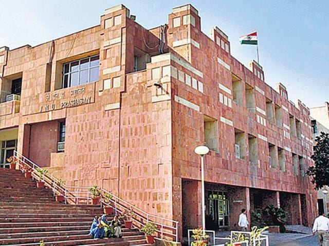 A  file photo of the JNU administrative building.