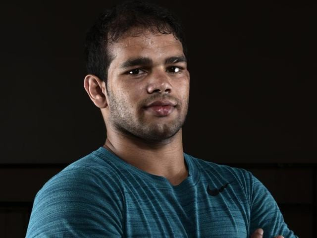 Wrestler Narsingh Yadav had tested positive for a banned substance ahead of the Rio Olympics on June 25.(Reuben Singh/HT Photo)