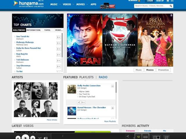 Hungama.com streams over 8,500 Indian and 2,500 international movies