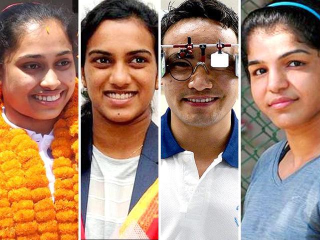Sports ministry announced that Dipa Karmakar, PV Sindhu, Jitu Rai and Sakshi Malik will receive the prestigious Rajiv Gandhi Khel Ratna award.