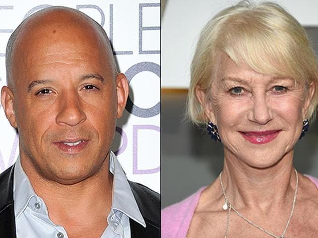 Actor Vin Diesel praised his new Fast & Furious co-star, veteran actress Helen Mirren, during a Facebook Live stream.