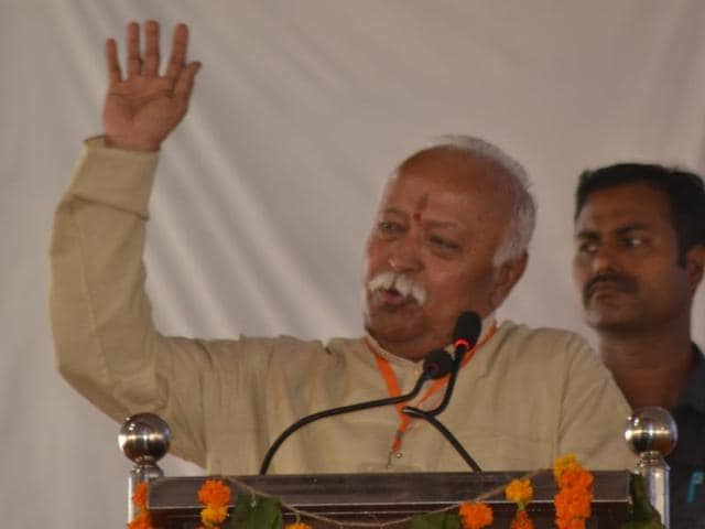 RSS chief Mohan Bhagwat was in Agra to address a gathering of about 2,000 young married couples.