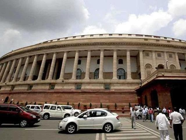 File photo of the Parliament building in New Delhi. If finalised, an early presentation of the annual budget will ensure its passage before fiscal year-end.