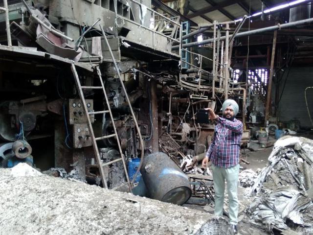 Explosion,Malerkotla paper mill,Malerkotla
