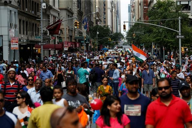 The India Day Parade on Manhattan's Madison Avenue is a fixture on New York's calendar.