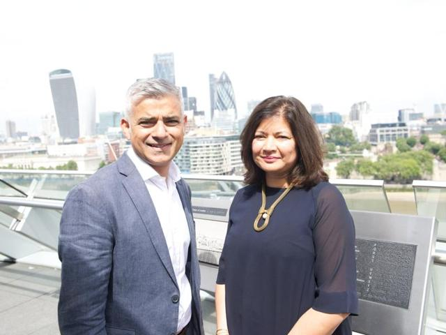 London mayor Sadiq Khan with Shirley Rodrigues, the newly appointed deputy mayor for enterprise and energy.