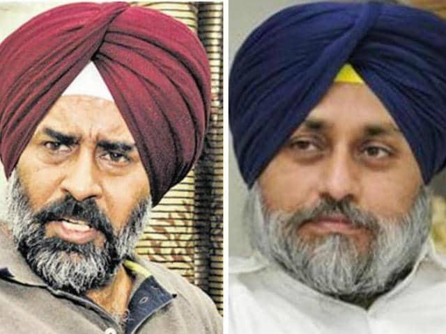 Pargat Singh and Sukhbir Badal
