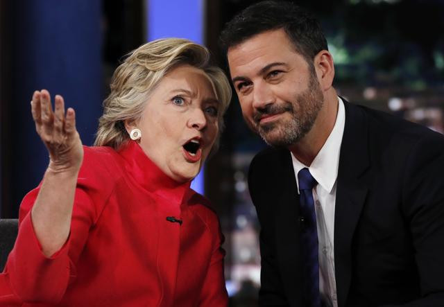 On the 'Jimmy Kimmel Show,' Clinton pushed back against rumours that she is physically unfit for the White House.