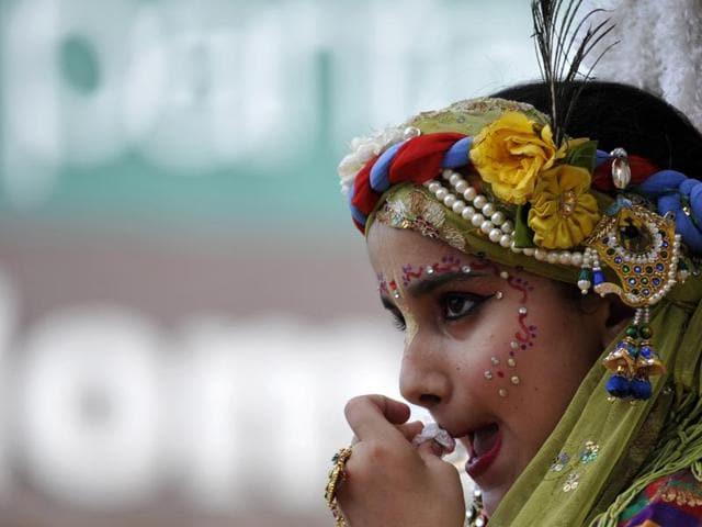 International Society for Krishna Consciousness organised a shobha yatra in Noida on Sunday.