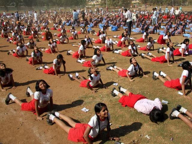 yoga,suryanamaskar,BMC