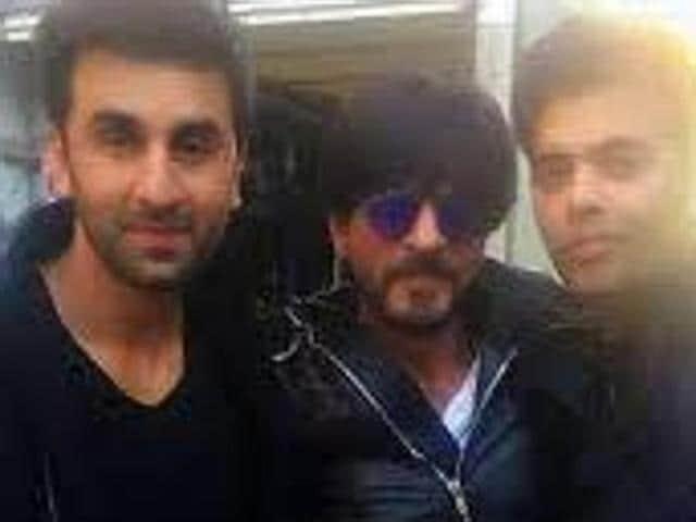 Shah Rukh Khan opn the sets of Ae Dil Hai Mushkil with Ranbir Kapoor and Karan Johar,