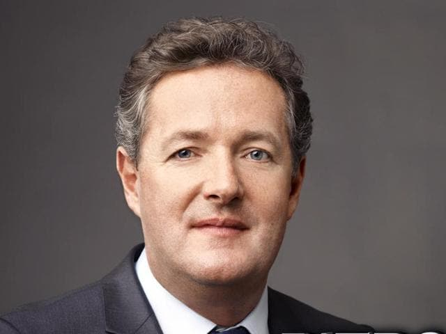 British journalist and television show host Piers Morgan