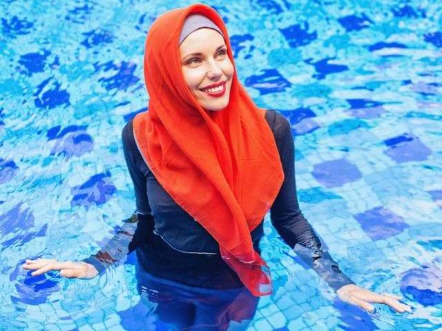 A burkini is a beachwear garment adheres to Islamic standards of covering women's bodies