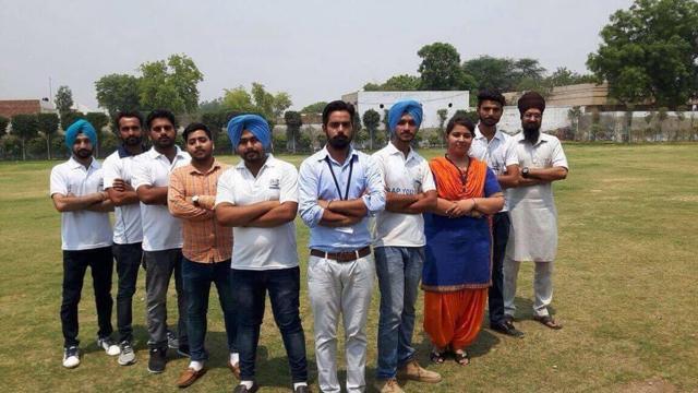 Aam Aadmi Party volunteers identified as AAP Youth Mansa (AYM)