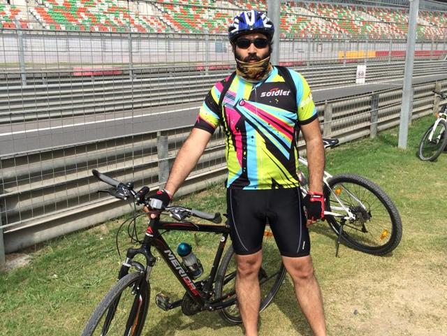 In October this year, ex-Army Major HarpalSandhu (above) will also take up a 800-kilometre road trip challenge from India Gate to Wagah Border in Amritsar.