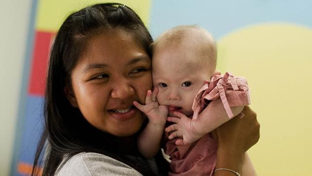 Thai surrogate mother Pattaramon Chanbua with her baby Gammy, born with Down Syndrome.