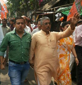 Bengal BJP president Dilip Ghosh will go on a seven-day US trip on September 7.(HT Photo)