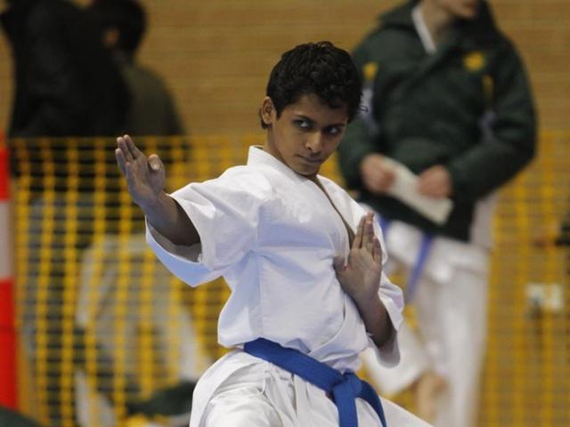 21-year-old Bhaskar Sen has to go through rigorous training to keep him fit.