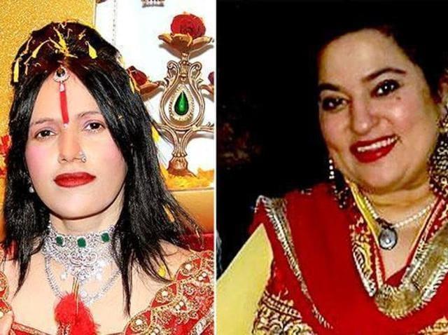 Radhe Maa and Dolly Bindra