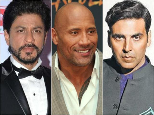 Dwayne Johnson topped the Forbes list of highest paid actors in the world while Shah Rukh Khan and Akshay Kumar stood eighth and tenth respectively.