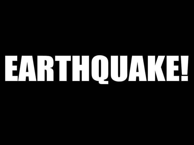 A symbolic image of an earthquake