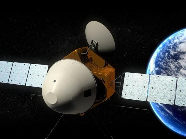 Concept portrayal of China's Mars rover and lander released on August 23, 2016 by lunar probe and space project center of Chinese State Administration of Science, Technology and Industry for National Defence