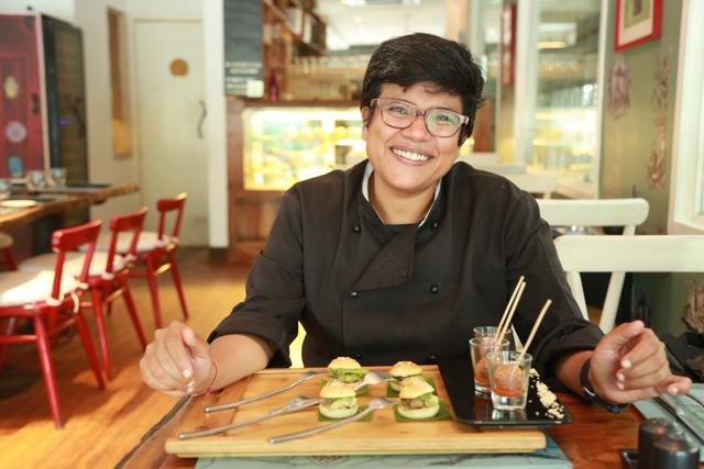 Chef Ritu Dalmia gives a chic spin to street food and creates a party perfect dish.