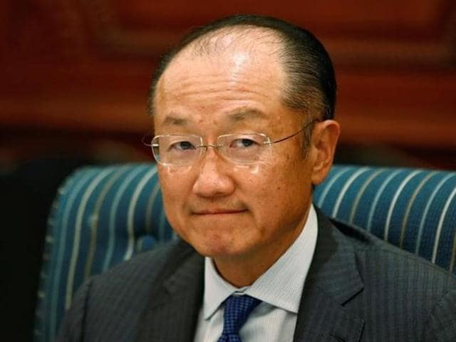 World Bank president Jim Yong Kim attends a meeting in New Delhi.