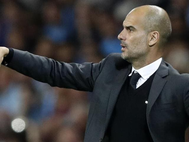 Pep Guardiola's Manchester City have drawn to play his former club Barcelona in the Champions League group stage.