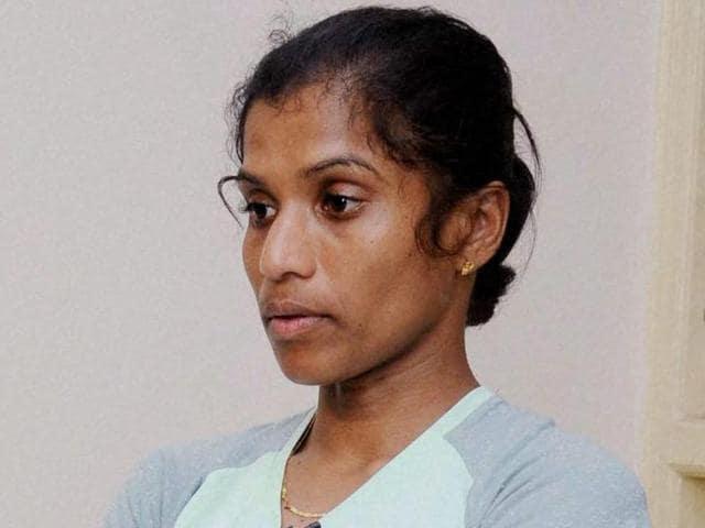 Marathon runner OP Jaisha at SAI office in Bengaluru.