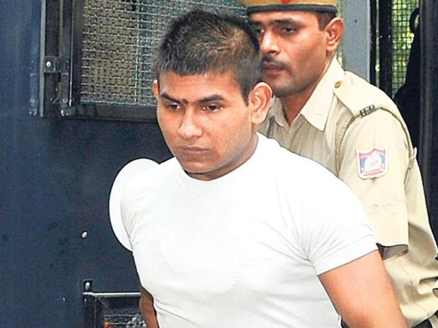 Vinay Sharma (pictured above) claimed last year that he was attacked in prison.