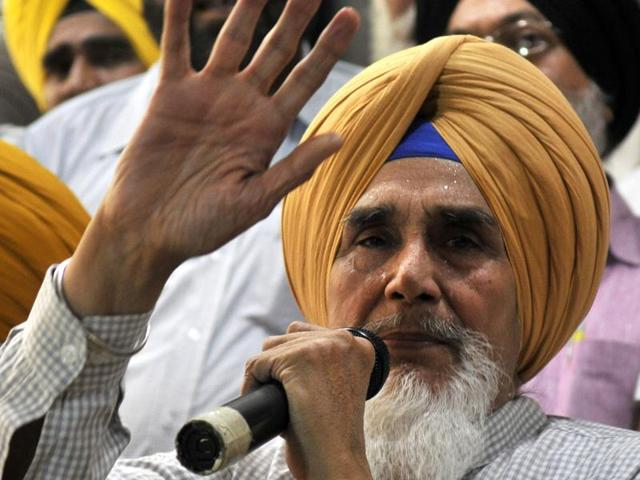 Sucha Singh Chhotepur interacting with the media in Chandigarh on Friday, hours before the AAP sacked him.