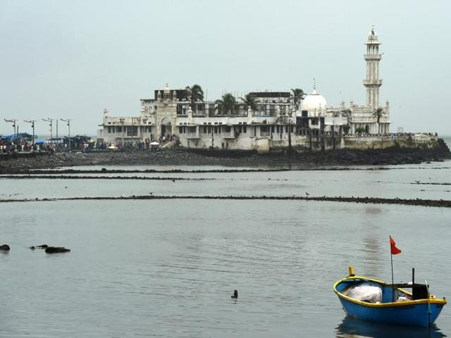 A general view of the Haji Ali Dargah is pictured in Mumbai.