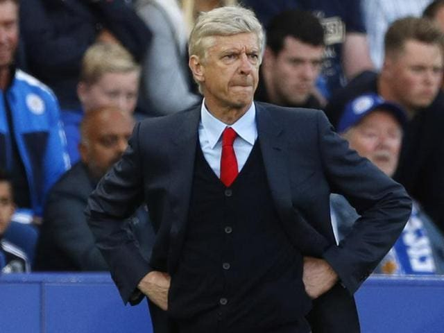 Arsenal manager Arsene Wenger in action during the Premier League.