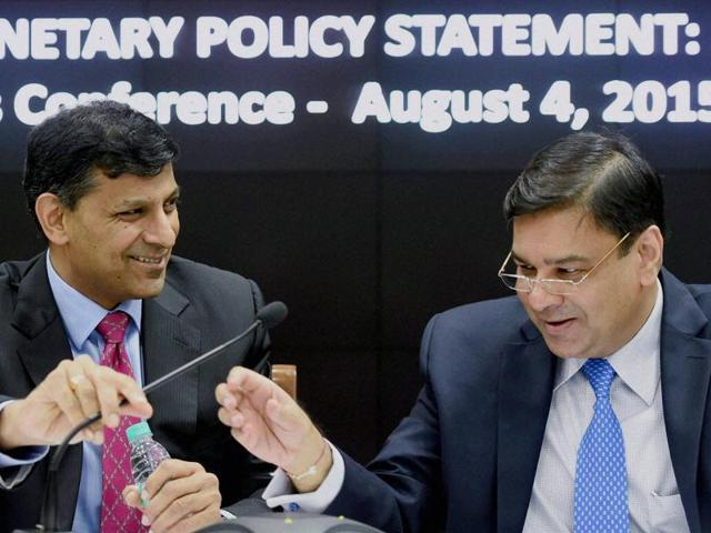 RBI governor Raghuram Rajan with his deputy Urjit Patel, who will take over as the central bank's new head.