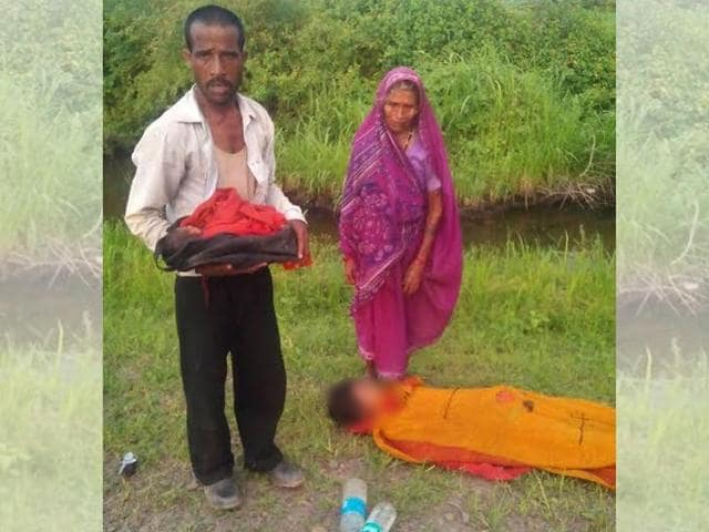 Ram Singh Lodhi, along with his five-day-old baby and elderly mother-in-law, was allegedly forced to get off a bus when his wife died during the journey  in MP's Damoh district.