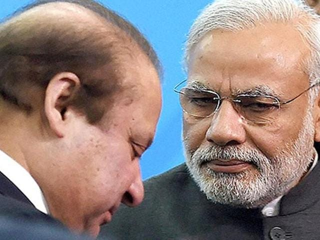 The war of words between India and Pakistan heated up after India said it would take up Pakistan's offer of talks provided they focus on cross-border terrorism and not the unrest in Kashmir.