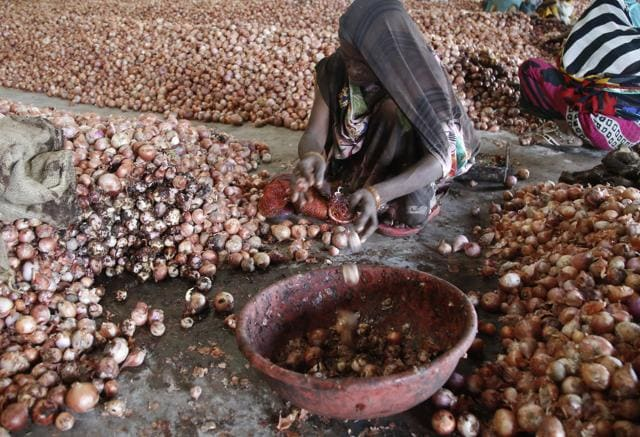 Thousands of quintal of rotting onions stored at numerous warehouses across Madhya Pradesh.