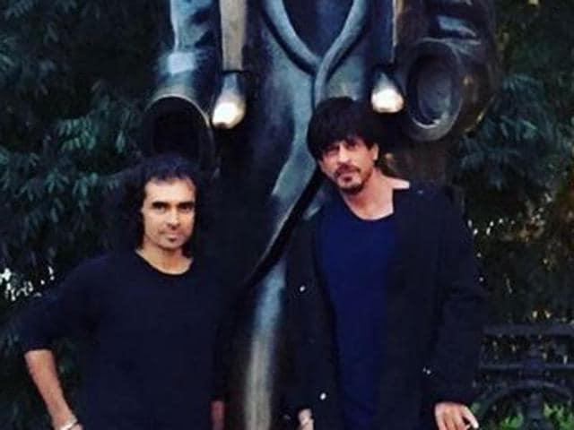 Shah Rukh Khan and Imtiaz Ali strike a pose in Prague where they are shooting their next The Ring.